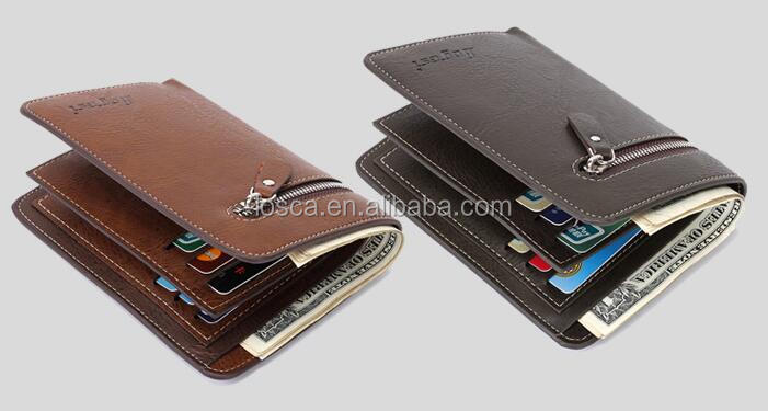 custom pu leather mens wallet for men