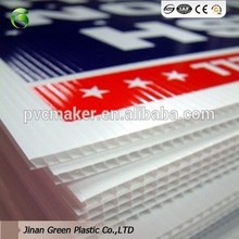 1200*2400mm PP Plastic Sheet For Advertisment Placard PP Material Coroplast Open House Signs