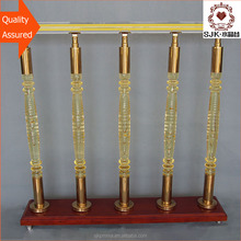 wholesale factory direct price luxury clear gold color stair handrail