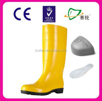 Knee height special industrial PVC boots/half wellington boots