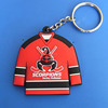 hockey pvc keychains, scorpions team shirt keyrings, scorpions mulhouse key rings custom plastic