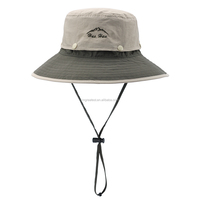 Wholesale Men Embroidery Bucket Hats with String Fishing Bucket Hat Outdoor Sports Brimmed Sun Caps In Stock