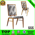 Imitated wooden gold banquet chair for dining room CY-3353