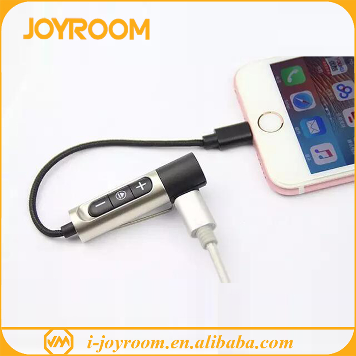 joyroom 2in1 charger cable and audio converter 3.5mm charging cable for iphone 7 headphone adapter