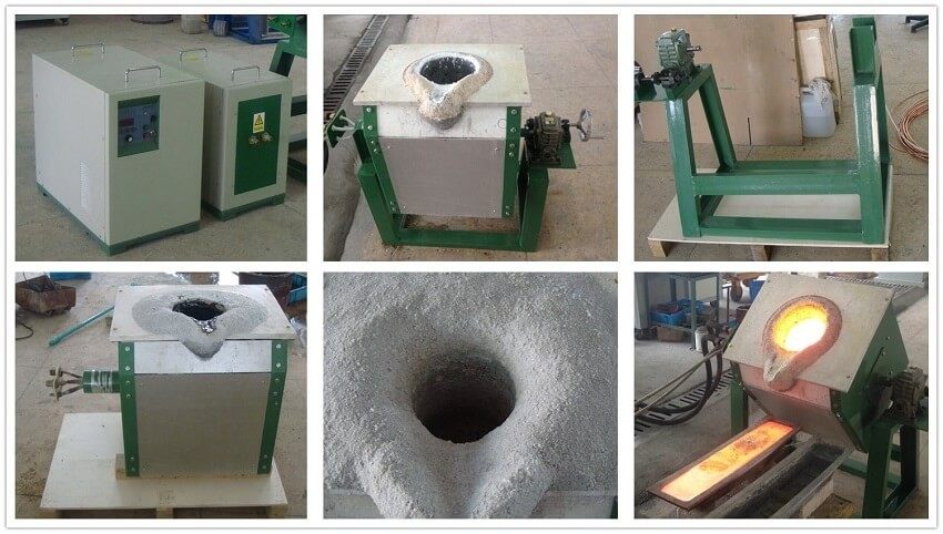 10kg 50 kg 100kg 200kg Copper Induction Melting Furnace for foundry