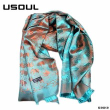 Manufacturers Produce Hot Selling Thai Elephant Print Beach Sunscreen Jacquard Fabric Custom Printed Silk Scarves