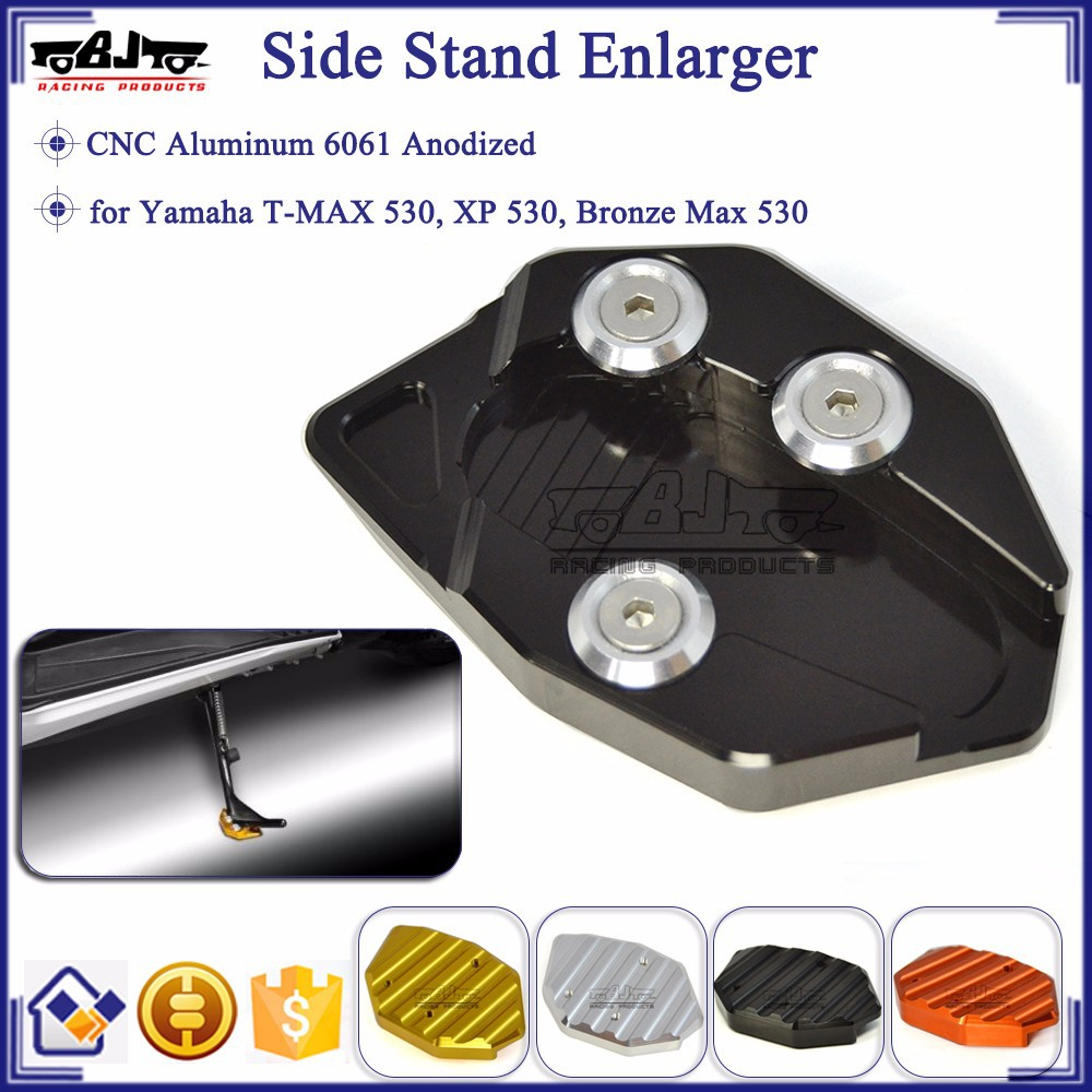BJ-SSE-YA001 Wholesale China Motorcycle CNC Aluminum Side Stand Enlarger For Yamaha TMAX 530
