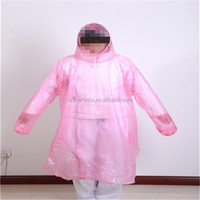 cheap and beautiful clear transparent raincoat manufacturer