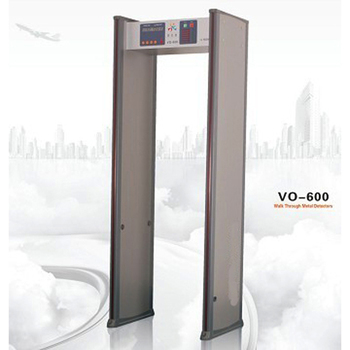 6 zone walk through metal detector VO-600