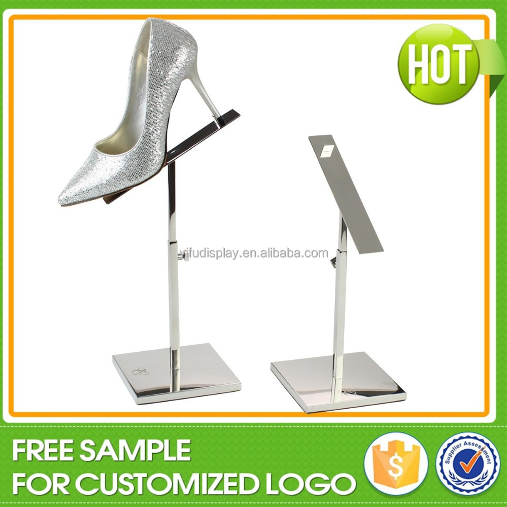 Wholesale Metal Shoe Store Riser Display Rack Stand, Shoe Rack For Store, Shoe Shine Stand