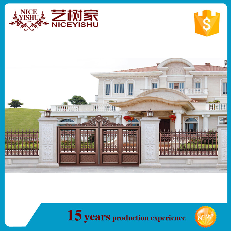 Small Iron Gate Design Aluminum Color Spray Paint Front