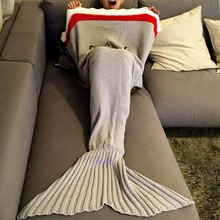 China manufacturer! Hot sale, home textile acrylic fabric, mermaid tail blanket for each age group, safe and comfortable.