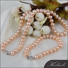 Best selling antique natural pink pearls costume jewelry