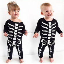 Best selling party clothing body skeleton Clothing Halloween Skeleton Costumes