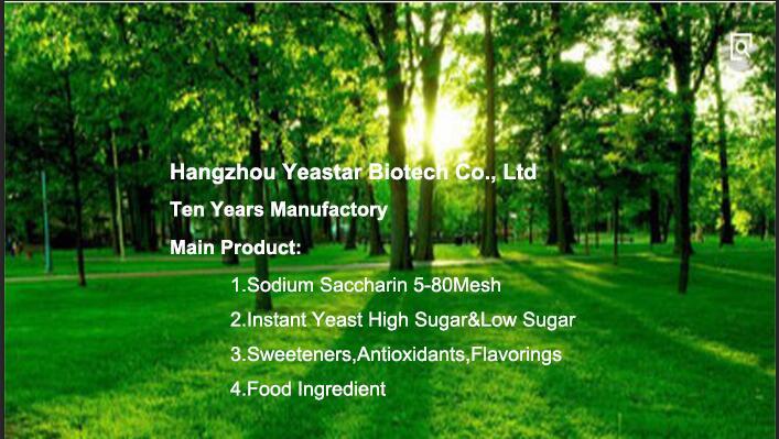 bulk sodium saccharin 8-12 mesh in preserved fruit manufactured China