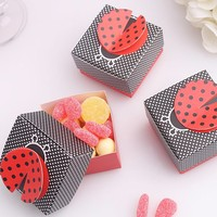 3d pop up bug wedding gift box cute ladybird candy favor boxes