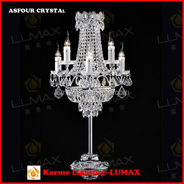 Fashionable modern European crystal bed table lamp