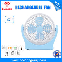 "6"" 5V 3W plastic battery operated mini toy fan"