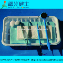 Medical disposable dental instruments kit for teeth examination