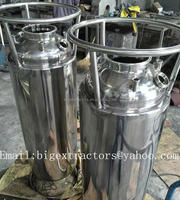 "Custom 12""x40""X5mm Round Bottom stainless steel solvent tank (60lbs Solvent Capacity)"