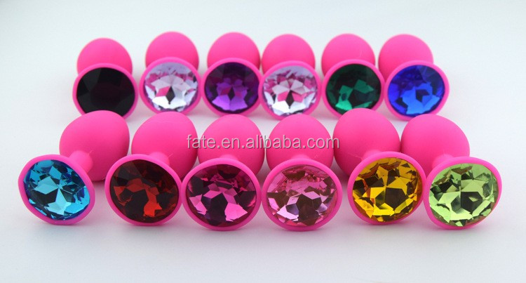 68*28mm,12 color for choose pink small size mini Silicone butt plug anal plug sex toy