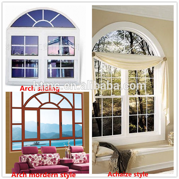 Factory price arched windows,aluminum casement window for balcony used