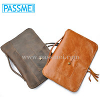 High Quality Leather laptop case bag, Multi-Function Tablet bag