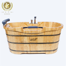 Wooden bathtub with faucet portable shower tub adult tub