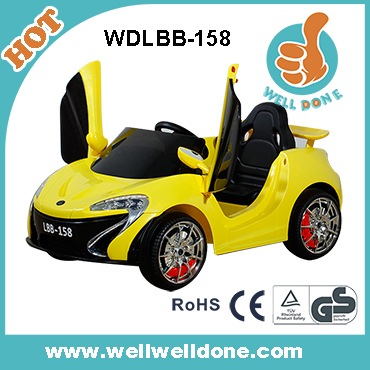 Fashion CE approved remote control jeep door open with light and music kids big car play WDJJ245