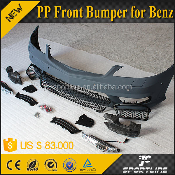 JC Sportline PP W221 to S65 Front Bumper for Mercedes Ben z S Class W221 2012 UP