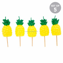 Factory manufacture boy and girl fancy birthday cake pineapple cake candles