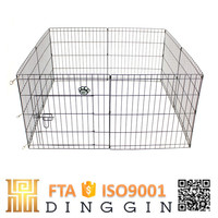 Outdoor temporary dog fence netting