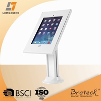 Anti-theft Steel Countertop Tablet Enclosure Kiosk Floor Stand