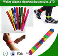 High quality Reflective Slap Band with Colour Print,custom design slap wristband