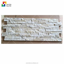 White quartz ledgestone stacked stone natural culture stone