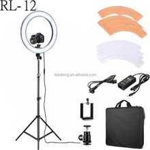 Hot sell Clear and bright RL-12 LED Ring Light Annular lamp for Camera Photo/Studio/Phone/Video Dimmable LED Macro Ring Light