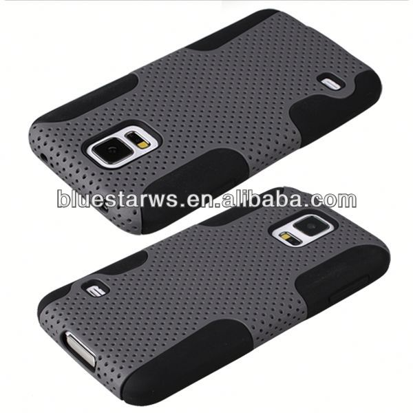 hard cover for galaxy s5 2014 factory directly stylish for galaxy s5 silicon gel mesh shell