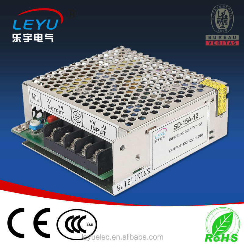 15W Output Power and Single Output Type DC to DC converter 12v to 5v