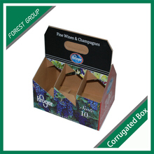 CORRUGATED CARTON BOX WHOLESALE CARDBOARD BOX 6 PACK WINE CARRIER