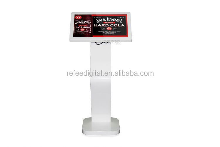 "Floor standing 22"" LED backlight lcd monitor usb video media player for advertising / Network advertising player / Touch screen"