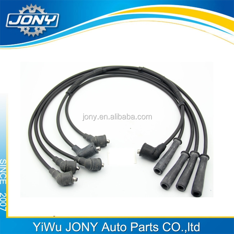 hight quality ignition coil black spark plug wire silicon boots ignition cable set