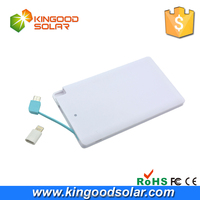 Best product customized Brand 2500mah promotional credit card slim rohs power bank