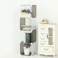 4 cubes double color Linen cupboard Corner wardrobe storage capacity( FH-AL0017)