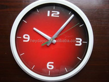 Red Fashion Simplicity Modern Style 10 Inches Round Living Room Wall Clock