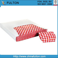 Red checked printed wax paper Waterproof greaseproof coated wax paper
