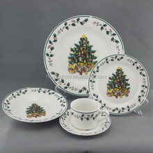porcelain chinaware set with color box, christmasporcelain tableware, used china dinnerware