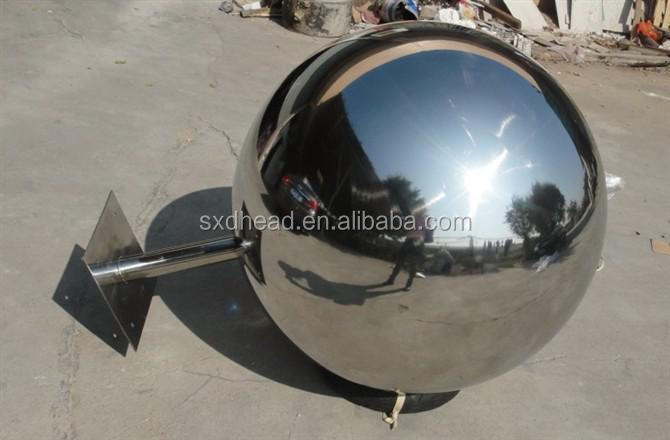 Plated water feature 900 1500mm with world map stainless steel sphere