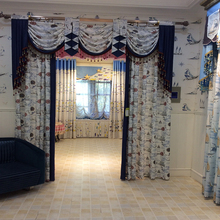 Custom Islamic salon decorating printed blackout curtain imported from China