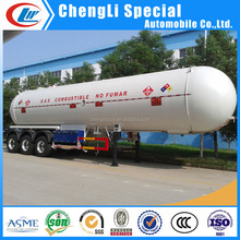 60m3 LP Gas Transport Tank Trailer for 25ton LP Gas Propane Butane Deivery Tank Semi-Trailer with REGO Valves