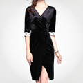 Customize Breathable Slim Woman Sexy Petal Sleeve Dress